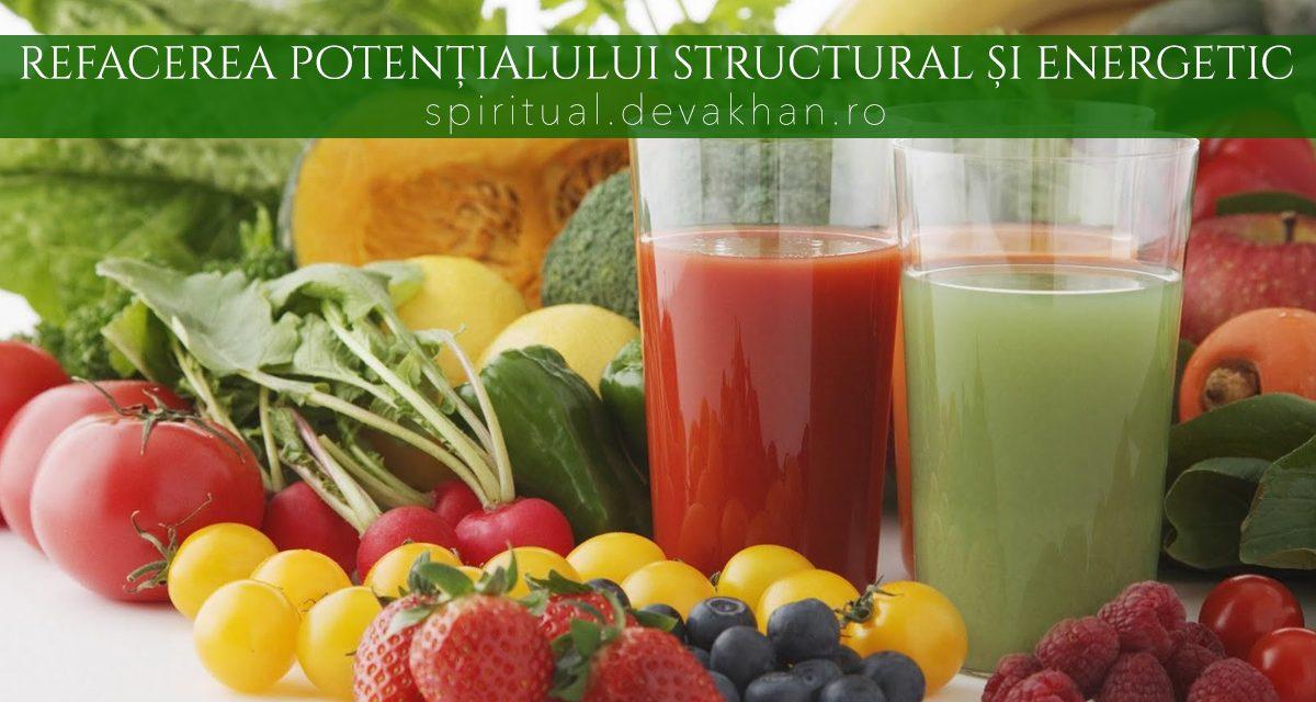 Refacerea potențialului structural și energetic prin hrana vie